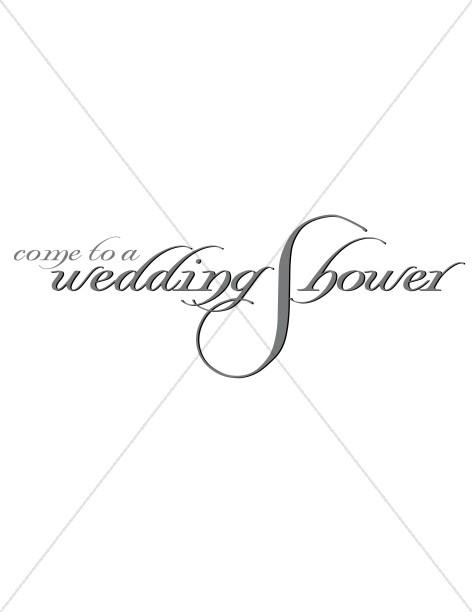Wedding Shower Fancy Scroll