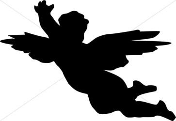 clipart angel cherub silhouette baby sharefaith graphics