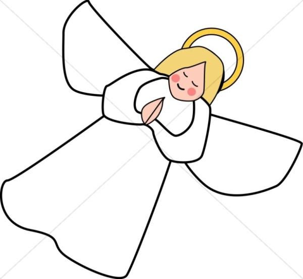 angle line art clipart angel