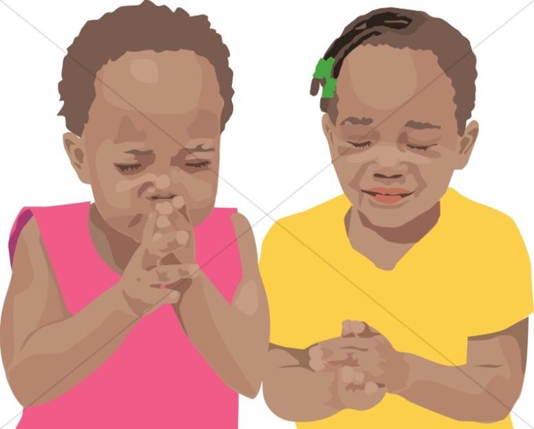 two children praying prayer