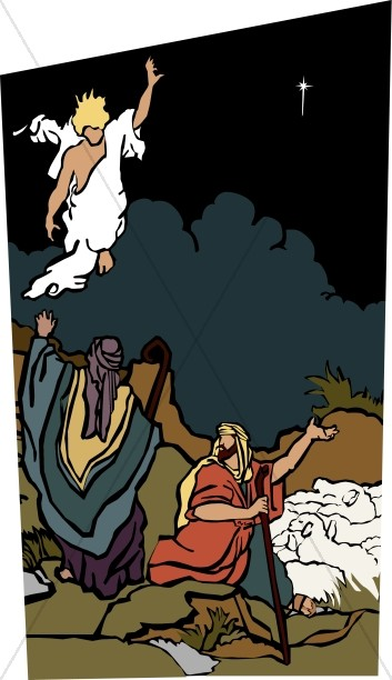 Shepherds Angels Christ Birth