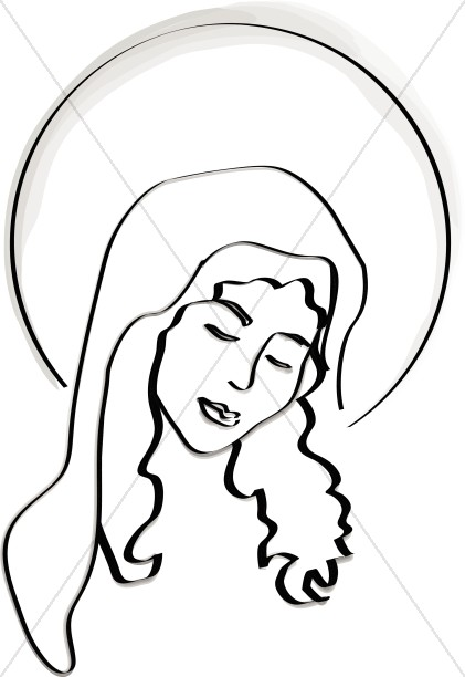 Radiant Mary at the Birth of Christ