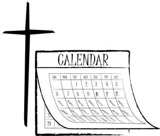 Christian Calendar Clipart, Church Calendar Graphic