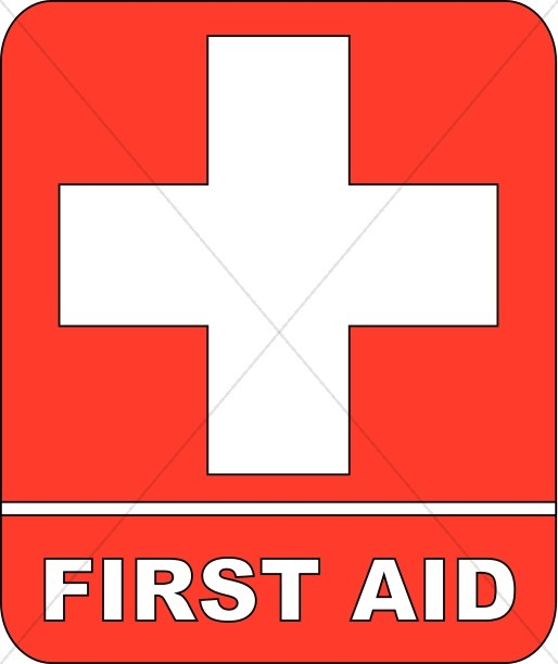Red First Aid Sign  Health Clipart