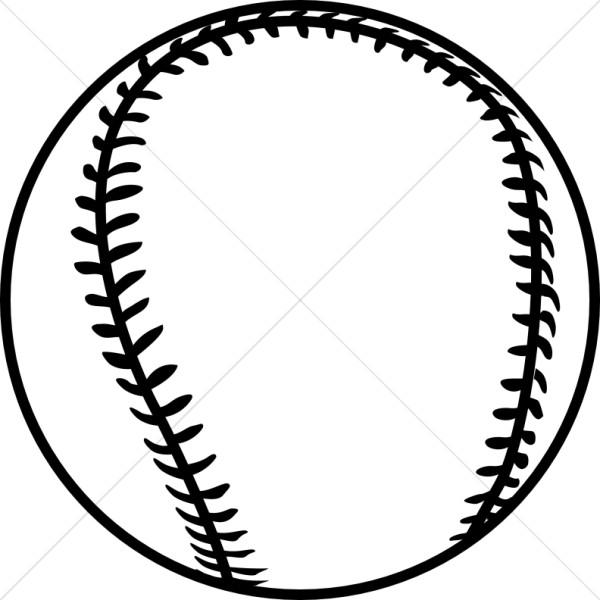 Black Outline Baseball