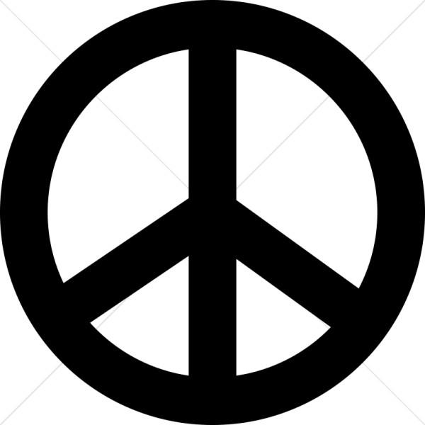 Line Art Globe Black And White Peace Clipart