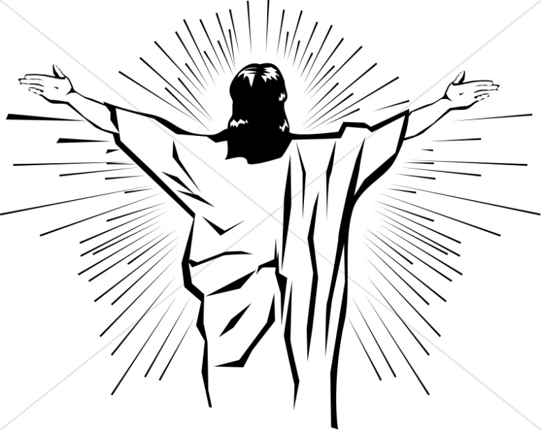 Black and White Jesus from Behind