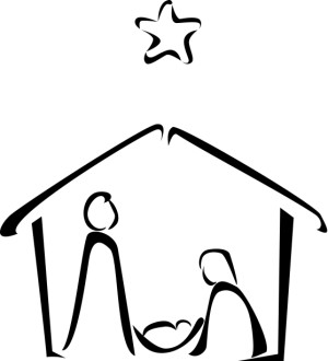 Nativity Clipart, Clip Art, Nativity Graphic, Nativity
