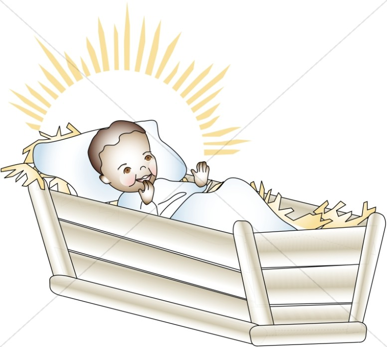 baby jesus laughing in