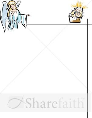 Angel and Baby Jesus Page Frame Christian Christmas Borders
