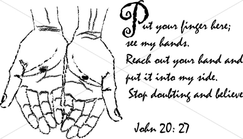 John 20:27 with Christ's Hands