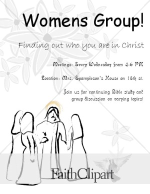 Womens Group Floral Flyer with Jesus