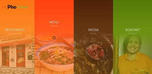 Pho Vietnam 网页菜单设计