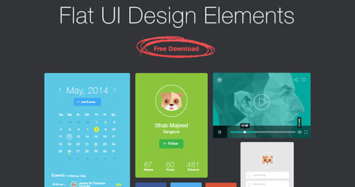 Flat UI Design Elements PSD素材