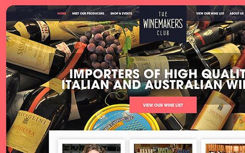 winemakers club homepage interface inspiration 网站首页