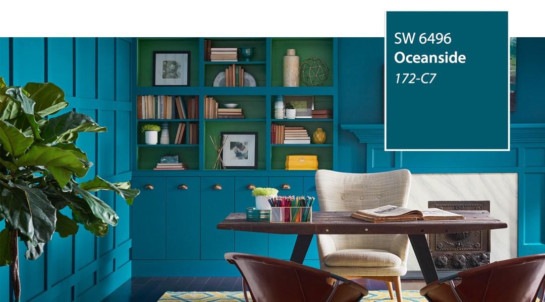 SW - Color of the Year 2018 - Oceanside SW 6496 - slide 1
