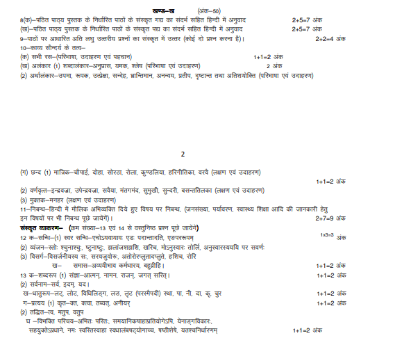 UP Board 12th Revised Syllabus