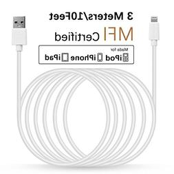 LINKPIN 10ft Lightning Cable Sync and Fast Charging