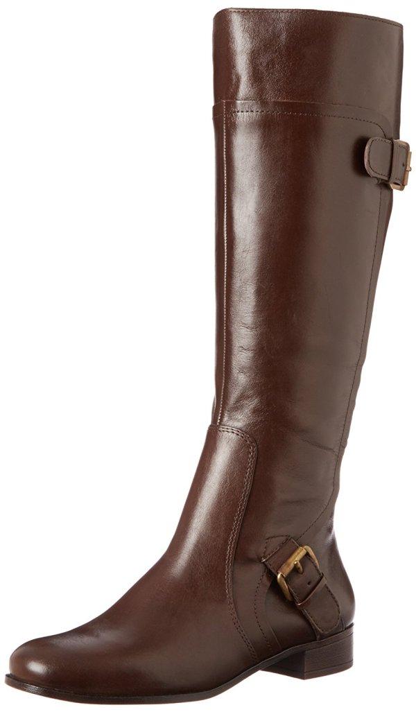 Nine West Womens Sookie Leather Almond Toe Knee High Fashion Brown Size 7.5 8u - 48.96