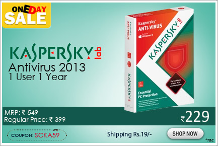 Kaspersky Antivirus 2013 1 User 1 Year
