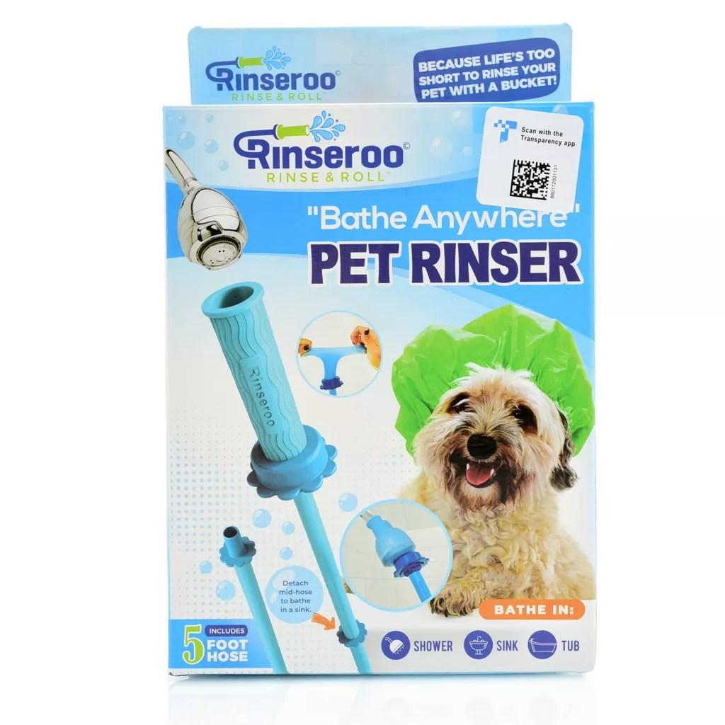 rinseroo slip on dog bath shower attachment hose for sink shower on sale at shophq com
