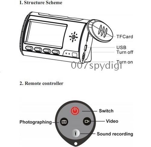 2010 Remote control SPY hidden Camera Clock