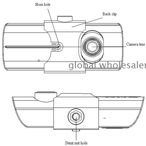 2 7 quot 140 Dual Lens dash board camera car dvr