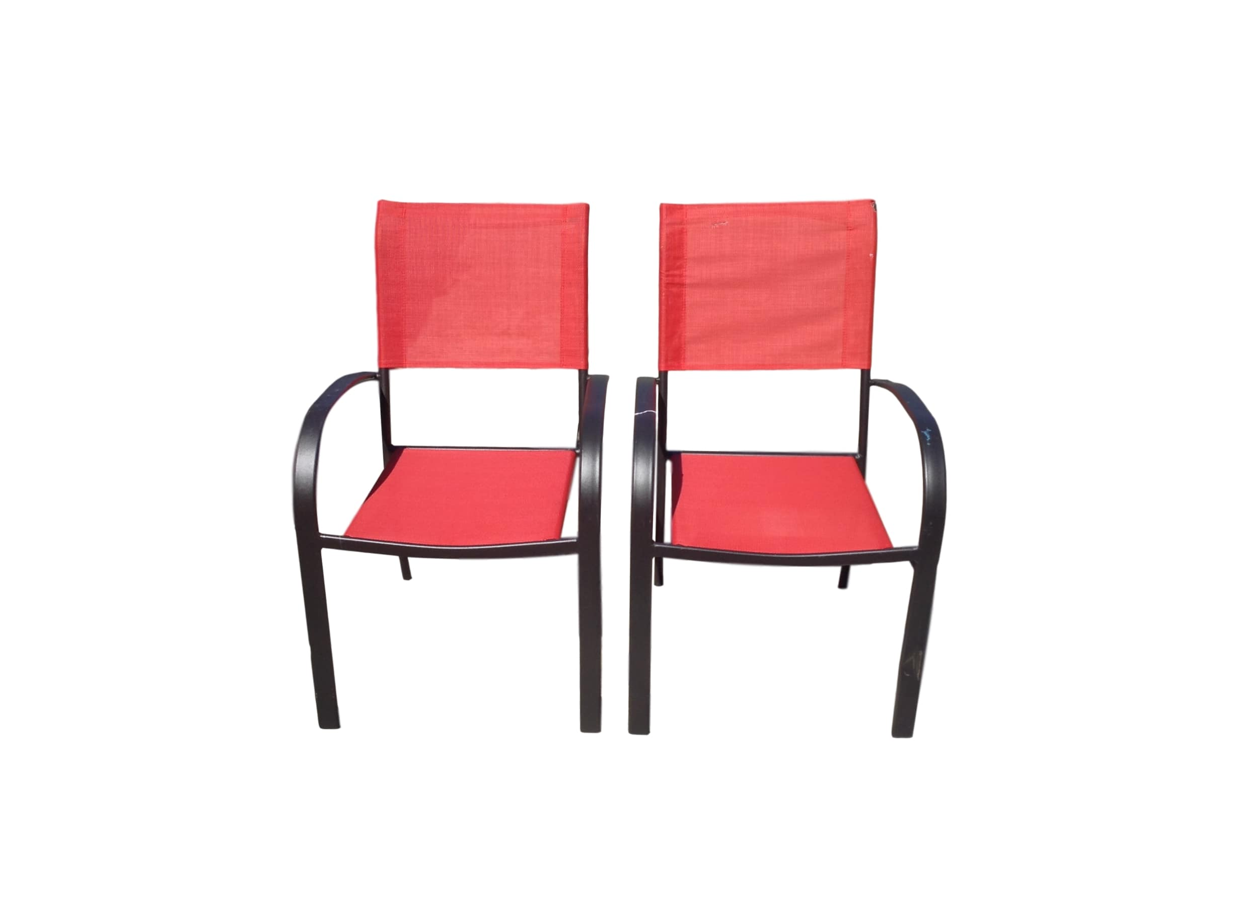 Set of 2 red Patio Chairs  Alabama Furniture