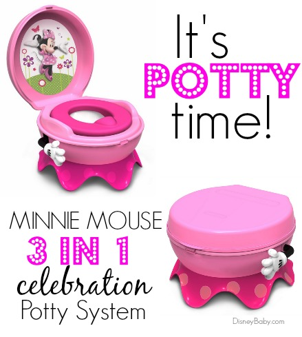 3 in 1 potty chair folding for travelling the first years disney minnie mouse system eci stores