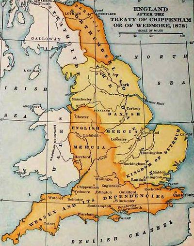 map of england vikings
