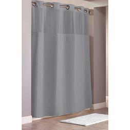 hookless shower curtain 71 x 86 grey