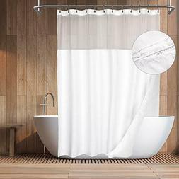 mesh top shower curtain shower