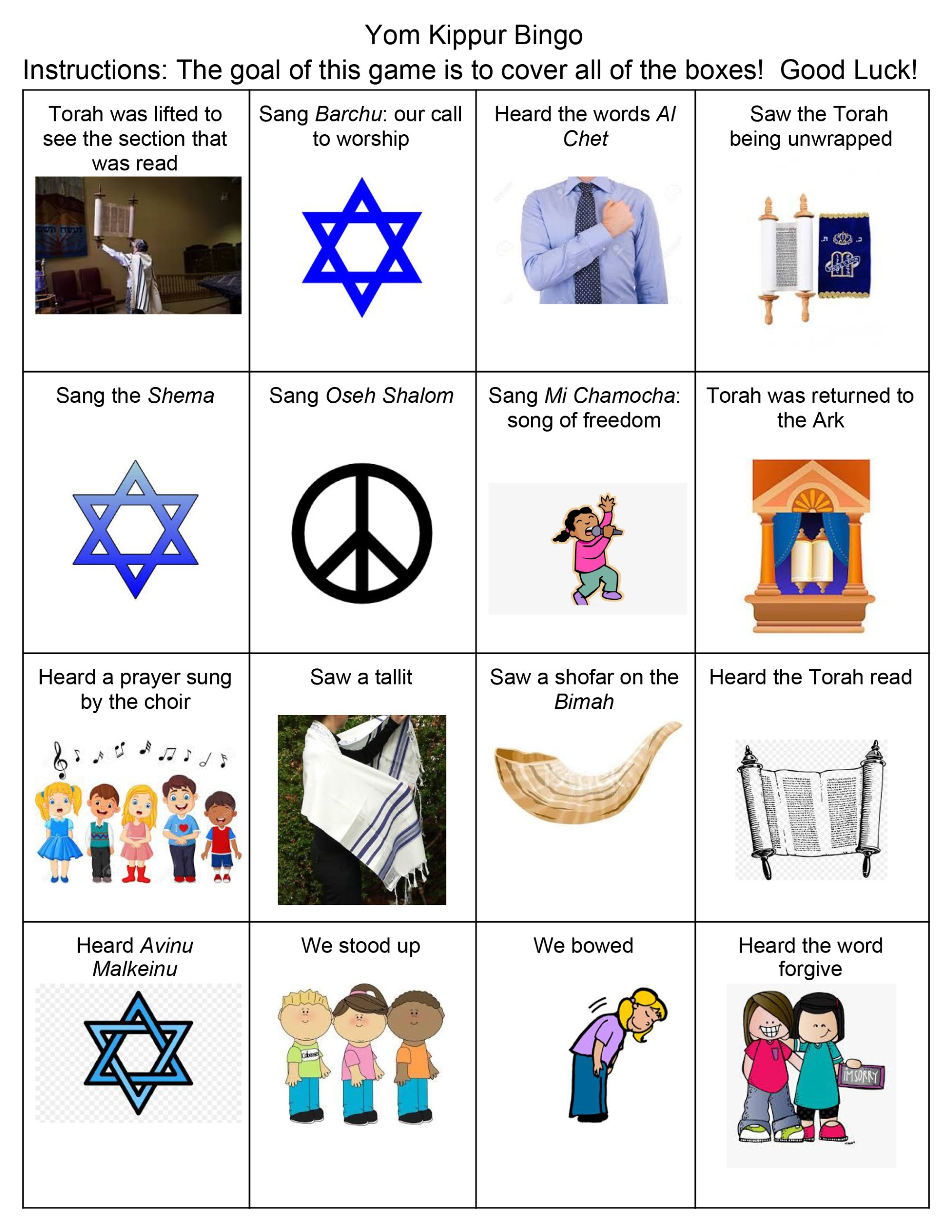 hight resolution of Yom Kippur Activity Worksheets - Temple Beth El of Northern Westchester