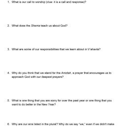 Yom Kippur Activity Worksheets - Temple Beth El of Northern Westchester [ 2689 x 2078 Pixel ]