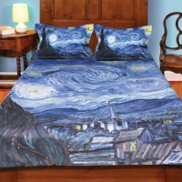 Van Gogh Starry Night Painting Duvet Cover and Set of 2 ...