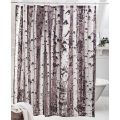 Birch trees shower curtain step through a stand of birch trees into