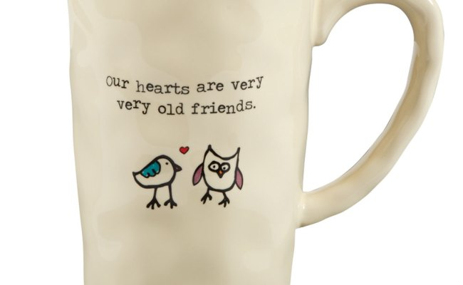 Our Hearts Are Very Very Old Friends Ceramic Mug Bird Owl