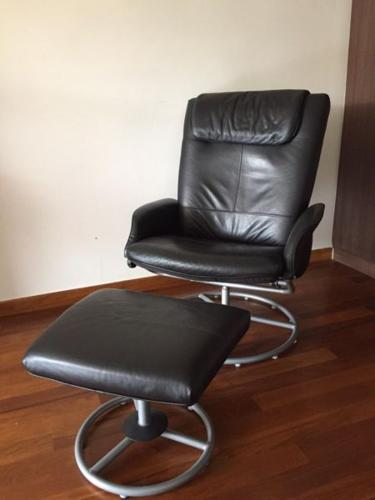ikea recliner chairs sale for office waiting room chair with foot stool in east coast road