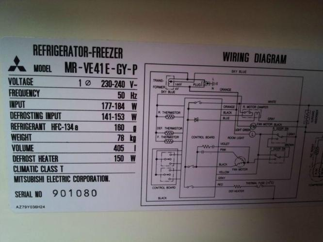 wiring diagram refrigerator mitsubishi - wwwcaseistore \u2022