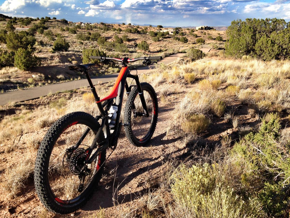 Fenceline Fatbike Trail Mountain Bike Trail in Rio Rancho. New Mexico    SINGLETRACKS.COM