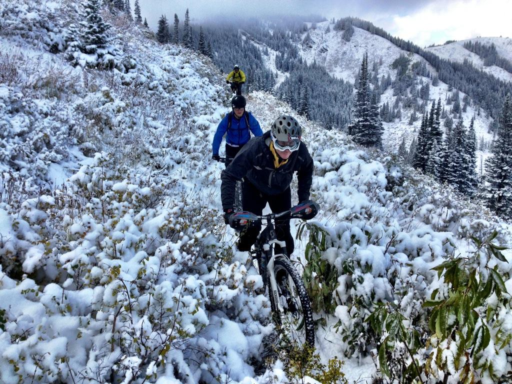Fall Mountain Scenery Wallpaper Riding Singletrack Gold Day 1 Slashing Pow On Mountain