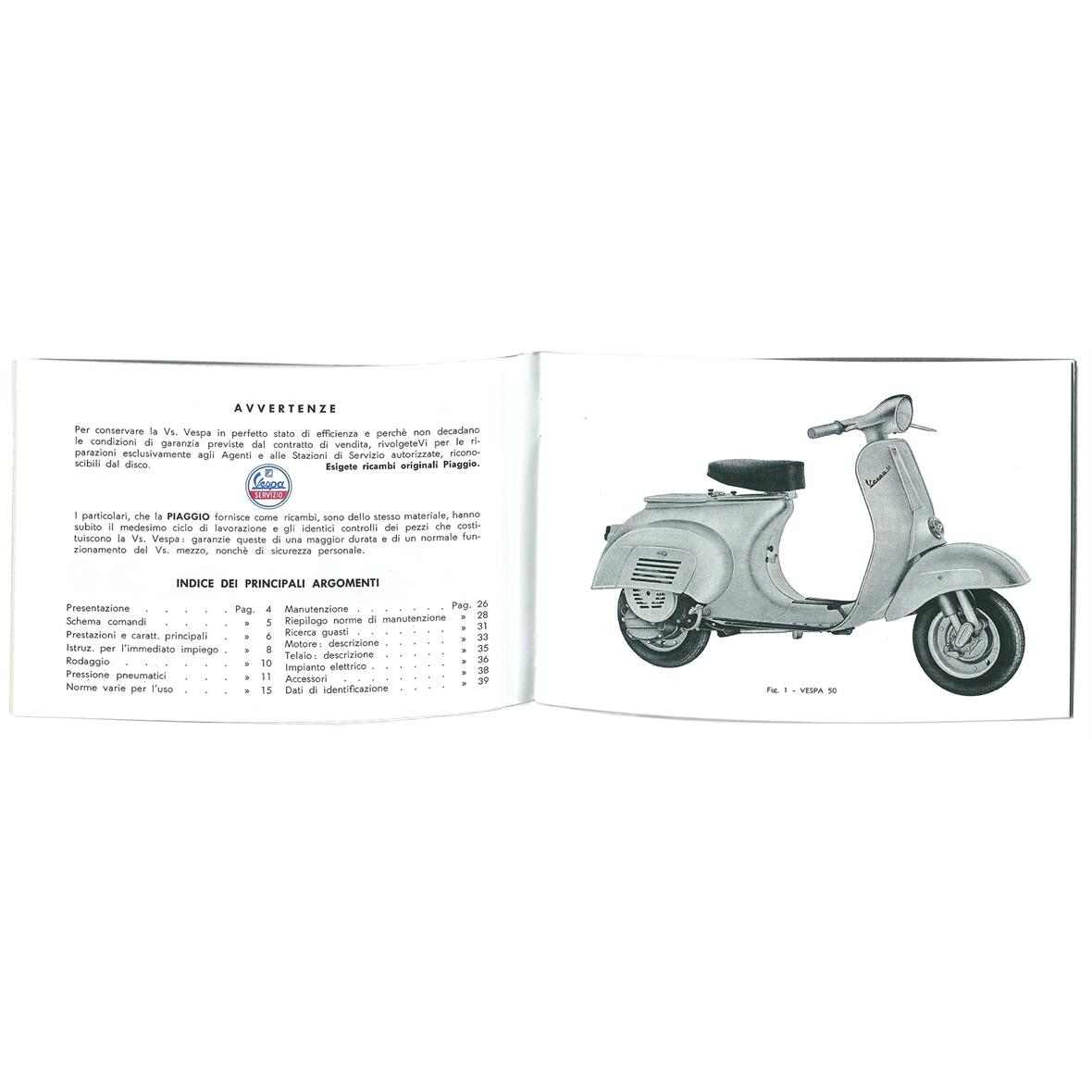 Instruction Manual PIAGGIO Vespa V50 V5A1T