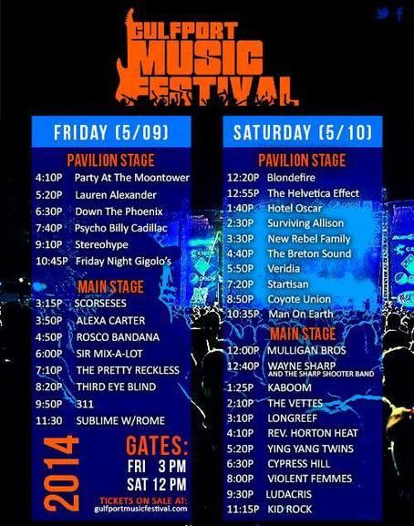 Gulfport Music Festival 2014 Gulfport Lineup Photos
