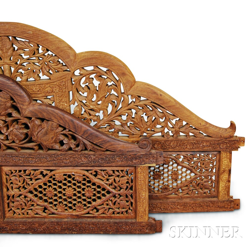 Canopied Carved Wood Bed Frame Sale Number 2906T Lot