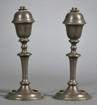 Pair of Pewter Whale Oil Lamps | Sale Number 2524B, Lot ...