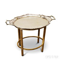 Silver-plated Tray Table | Sale Number 2911T, Lot Number ...