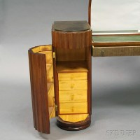 Art Deco Mirrored Vanity and Chair | Sale Number 2747M ...