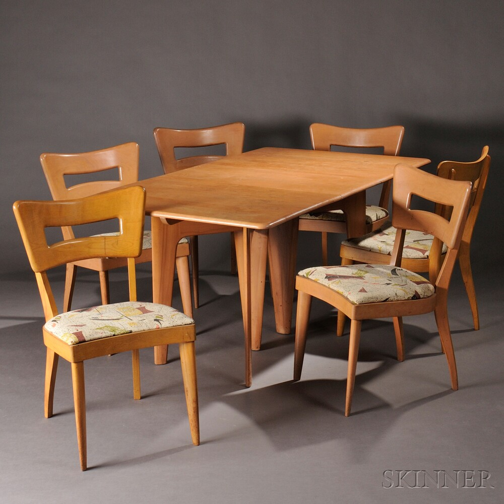 heywood wakefield dogbone chairs lego table and dining six sale number