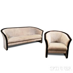 Art Deco Style Club Chairs Techni Mobili Chair Review Upholstered Walnut Sofa And Barrel Back