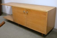 Mid-century Modern Blondewood Built-in Console Cabinet ...
